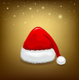Hat red Santa Claus Stock Photos