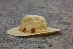 Hat on the road Royalty Free Stock Photography