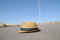 Hat on the road Stock Image