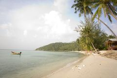 Hat Salad beach, Ko Phangan, Thailand Royalty Free Stock Photos