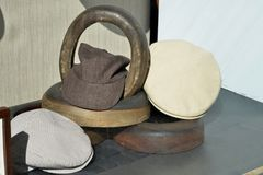 Hat for sale. Men`s hats for sale, part of a series Stock Photos