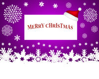 Hat of Santa Claus with a blank white banner Royalty Free Stock Image