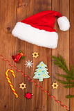 Hat of Santa Claus Christmas decorations Stock Image