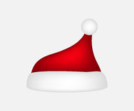 Hat of Santa Claus on a white background Stock Photos
