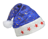 Hat Santa with ornament night sky Royalty Free Stock Images
