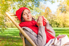 Hat scarf autumn fall Royalty Free Stock Photos