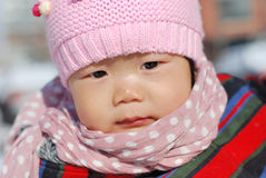 Hat scarf Chinese girl Stock Photography