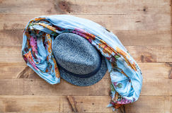 Hat and scarf Stock Images