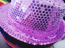 A showman& x27;s hat. A hat with sequins Royalty Free Stock Images