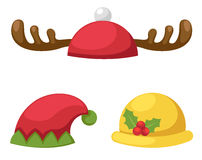 Hat set isolated vector illustration Stock Photography