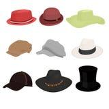 Hat set of nine isolate Royalty Free Stock Photo