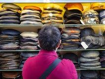 Hat shop stock image