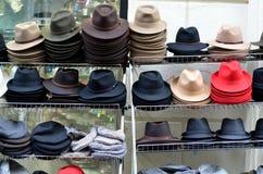 Hat shop; Showcase Royalty Free Stock Images