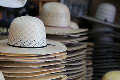 Hat Shop. Small town cowboy hat shop that shapes your hat for you stock photo