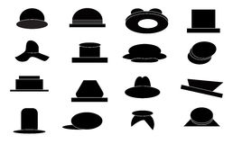 Hat Silhoutte Stock Images