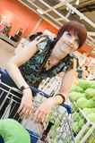 hat som shoppar kvinnan Royaltyfri Fotografi