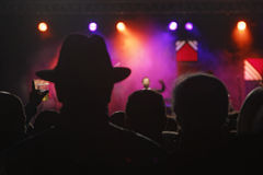 Hat on stage Stock Photography