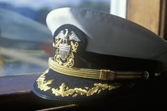 A hat of a steamboat captain Royalty Free Stock Images