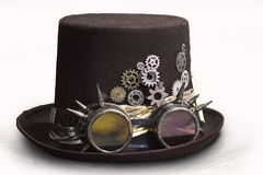 Hat steampunk. Hat in the steampunk style isolated on white background royalty free stock photography
