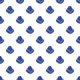 Hat stewardess pattern, cartoon style Stock Image