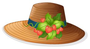 A hat with strawberries Royalty Free Stock Photo