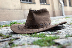 Hat on the street Royalty Free Stock Images