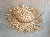 Hat summer beach wicker Royalty Free Stock Images