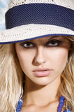 Hat summer portrait Royalty Free Stock Photography
