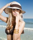 Hat summer portrait Stock Photos