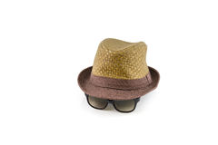 Hat and sunglasses Royalty Free Stock Image