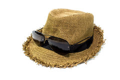 Hat with sunglasses Stock Image