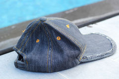 Hat on the swimming pool Royalty Free Stock Photography