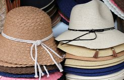 A hat is a hat with a tail and usually with a brim. Hat - a strip of material protruding beyond the edges of the crown, to protect the face, shoulders, neck from royalty free stock photo