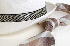 Hat and tie. Stock Photo