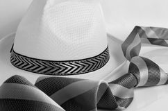 Hat and tie. Royalty Free Stock Image