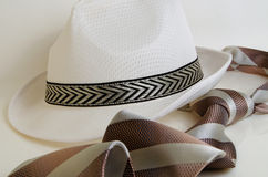 Hat and tie. Stock Photos