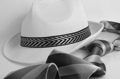 Hat and tie. Royalty Free Stock Images