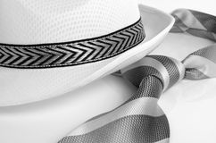 Hat and tie. Royalty Free Stock Photo