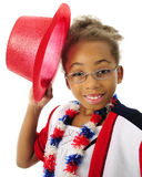 Hat-Tipping Child Patriot Stock Image