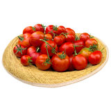 Hat with tomatoes. Royalty Free Stock Photos