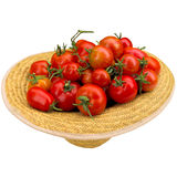 Hat with tomatoes. Royalty Free Stock Photography