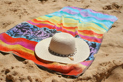 Hat and towel stock image