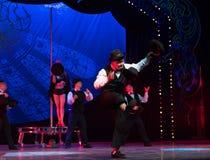 Hat trick-Acrobatic showBaixi Dream Night Stock Photography