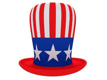 Hat of the uncle sam Stock Photos