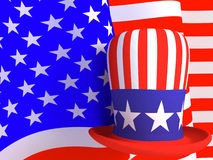 Hat of the uncle sam Stock Image