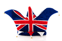 Hat of United Kingdom. Hat of a soccer supporter of the United Kingdom Stock Images