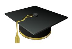 Hat University graduate with a Golden tassel Stock Photography