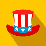 Hat in the USA flag colors flat icon Stock Photos
