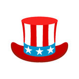 Hat in the USA flag colors icon Stock Image