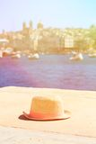 Hat on vacation in summer Malta Royalty Free Stock Photo
